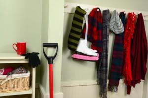 Organized Mudroom in Winter - Total Storage Self-Storage
