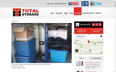 Total Storage Winnipeg Website - How to Find Our Online Storage Unit Auctions - Total Storage Winnipeg